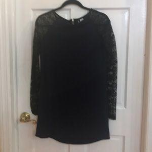 H&M black/blue high low dress